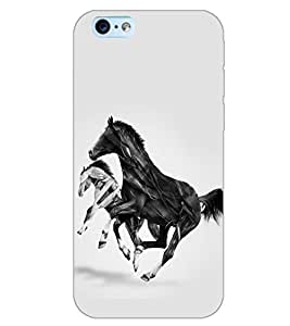 PrintDhaba HORSE ART D-6367 Back Case Cover for APPLE IPHONE 6 (Multi-Coloured)