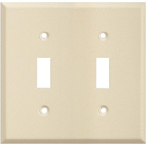 Pro-Ivory Steel Wrinkle Switch Wall Plate-IV DBL SWITCH WALL PLATE