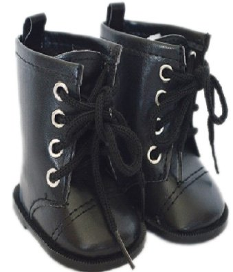 BLACK TIE BOOTS FOR AMERICAN GIRL DOLLS