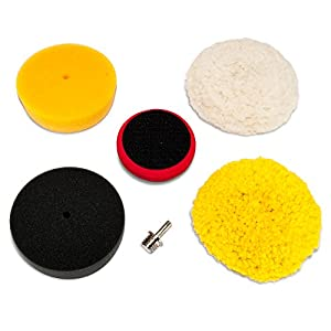 "AES Industries 5pc 3"" Mini Buffing Pad Detailing Kit by AES Industries"