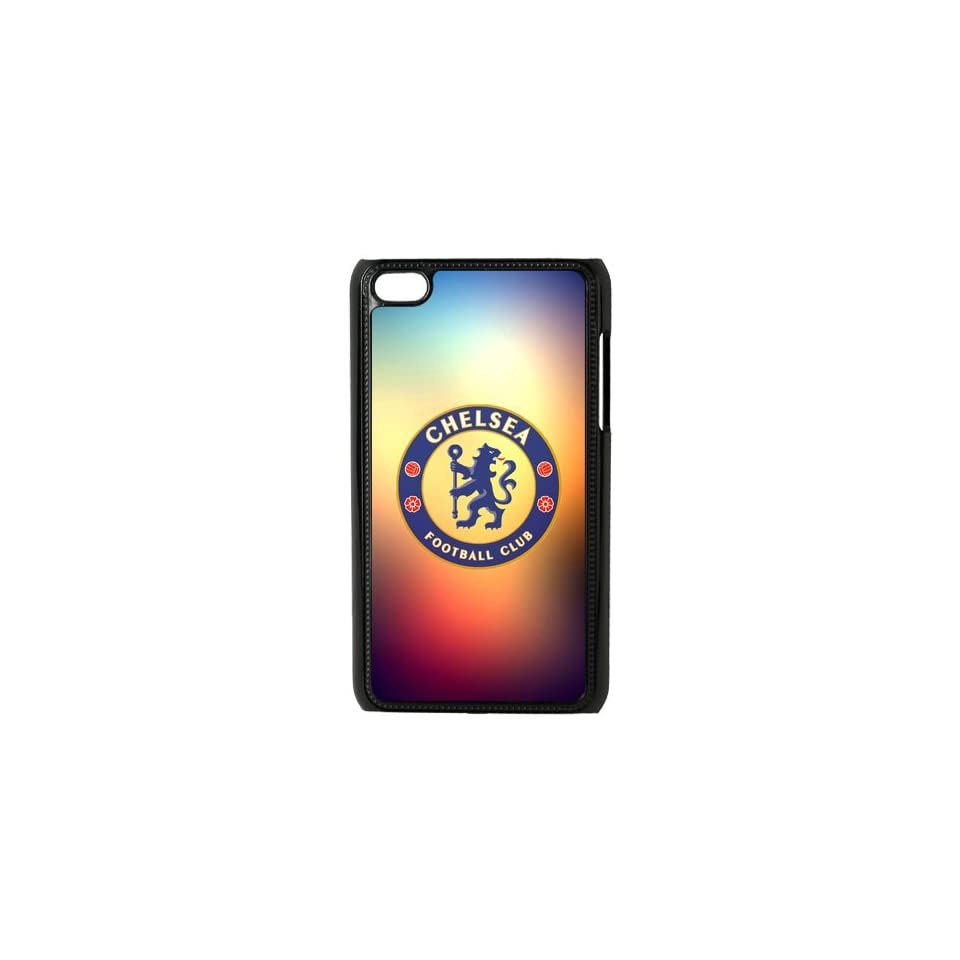 Chelsea Football Club Logo Orange blue Galaxy Background Ipod Touch 4 Case Snap on Hard Case Cover   Players & Accessories