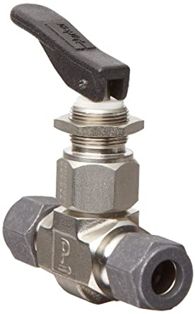 Parker VQ Series Stainless Steel 316 Toggle Valve, Inline, Toggle Handle, PTFE Stem, CPI Compression Fitting