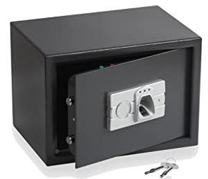 tresor safe mit elektronischem fingerprint schl 252 ssel
