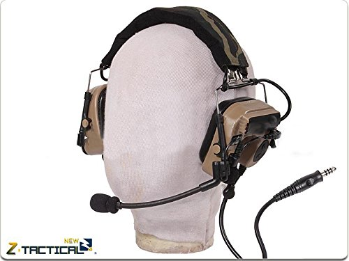 Hfire Z Tactical Comtac Iv In-The-Ear Headset Combat Earmuffs - Tan