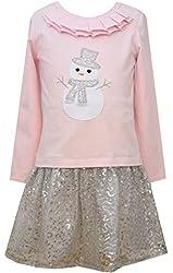 Bonnie Jean Big Girls' Snowman Dress