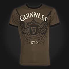 Guinness T-Shirt Mens - Khaki Wings