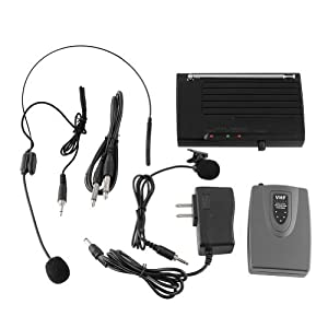 ZGY Wireless Lapel Headset Microphone MIC System for Public Speaking Singing Sound Music Stage Dance_hall Meeting_room Classroom Long-distance High-fidelity Low Distortion 220-270MHz AC220-240V