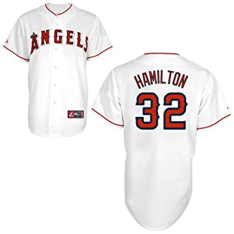 Josh Hamilton Los Angeles Angels Home Replica Jersey by Majestic by Majestic