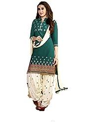 Shiroya Brothers Women's Cotton Unstitched Salwar Suit Dress Material (Dress_1002_FreeSize_rama)