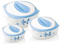 Nayasa Thermoware casserole - Desire Gift Set Small (500,800,1200 ml)blue