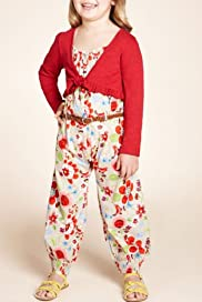 2 Piece Autograph Pure Cotton Jumpsuit & Shrug Outfit [T77-8252T-Z]