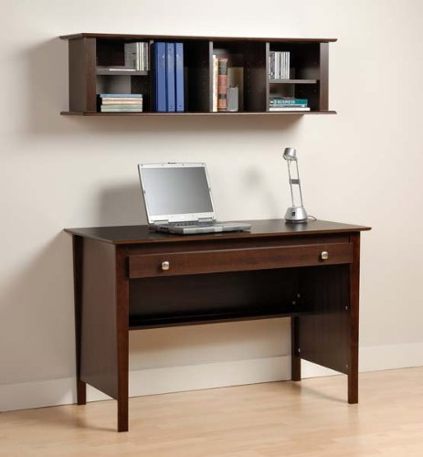 Buy Low Price Comfortable Espresso Contemporary Computer Desk with Hutch – Prepac EWD-4730-K (B005LWNC6Q)