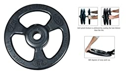 "Steel Composite Olympic Grip Plate - Black ""ISO-GRIP"" 2.5 lb"