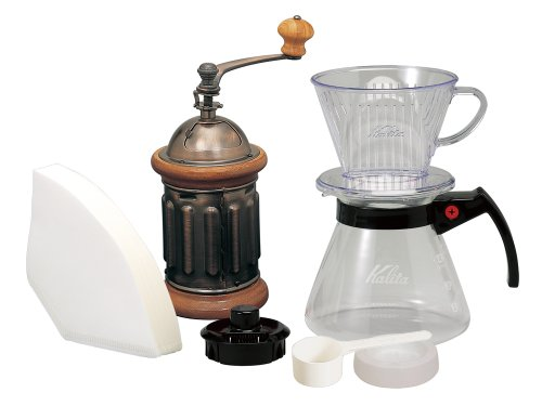 Coffee mill KH-5 set ground [Amazon.co.jp limited] Kalita drip set 102-D set N & hand (japan import)
