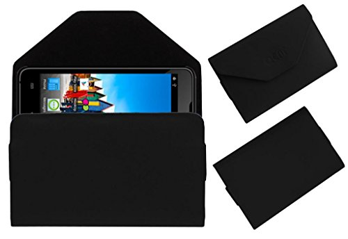 Acm Premium Pouch Case For Micromax Canvas Viva A72 Flip Flap Cover Holder Black  available at amazon for Rs.179