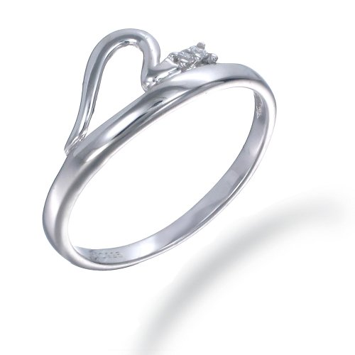 1/10 CT 3 Stone CZ Ring In Sterling Silver (Available in Sizes J - S)
