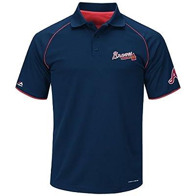 Atlanta Braves Bases Loaded Blue Cool Base Polo Shirt