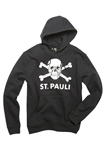 FC St. Pauli teschio I felpa con cappuccio, nero