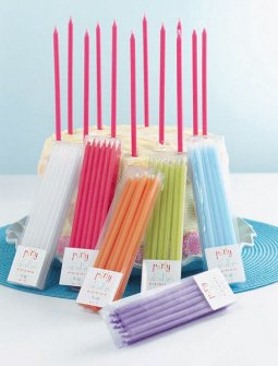 TAG Birthday Party Cupcake / Cake Candles, Set of 12, Cloud White