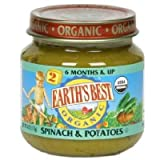 Earth's Best, Baby Foods, Spinach & Potatoes, 4 oz (113 g)