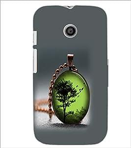 Printdhaba Pendant D-2414 Back Case Cover For Motorola Moto E
