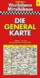 Die Generalkarte Tschechien 1, Westböhmen/Mittelböhmen 1:200 000 - Mairdumont