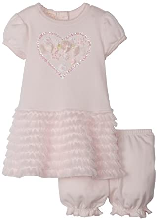 Amazon.com: Biscotti Baby-girls Infant Be Mine Dress and Bloomer, Pink