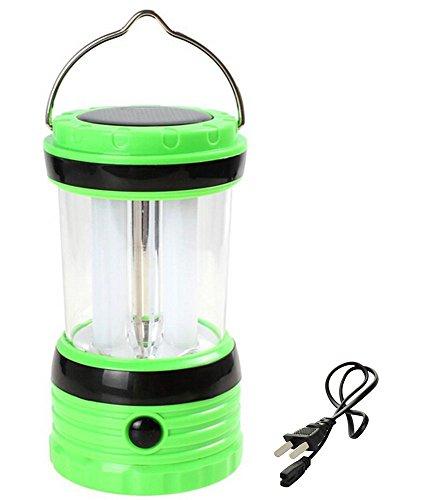 Winkeyes® 高輝度 ソーラー式LEDデスクスタンド  提灯 ソーラーエネルギー/単三電池/電源プラグ 3つ充電方式 (グリーン)