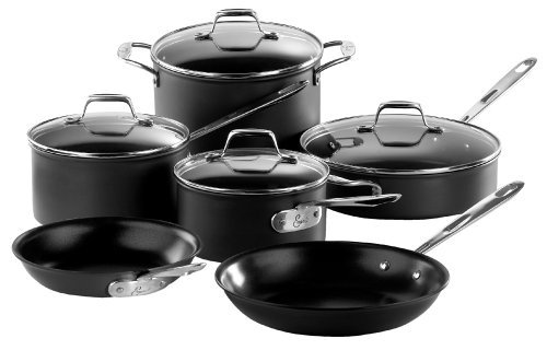 Buy Emerilware Hard Anodized non stick 10 piece set with glass lids