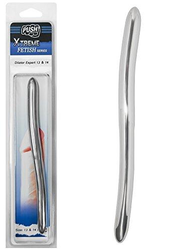 Push-Xtreme-Fetish-20cm-Edelstahl-Dilator-Expert-13mm-14mm-breit