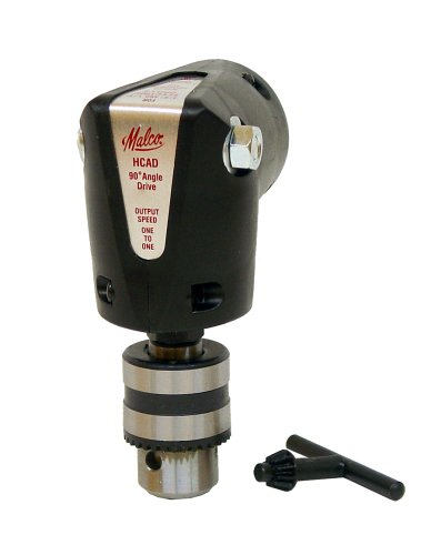 Malco Hcad Keyed Chuck 90 Degree Angle Drive Accessory For 1/4-Inch To 1/2 Inch Drills