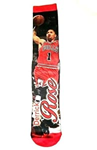 For Bare Feet Bulls Nba Derrick Rose Crew Sock by For Bare Feet
