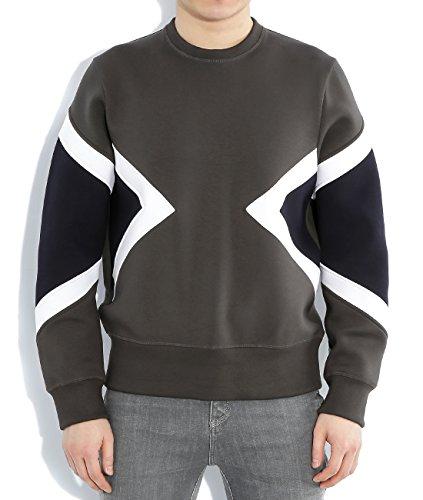 wiberlux-neil-barrett-mens-geometric-panel-neoprene-sweatshirt-m-olive