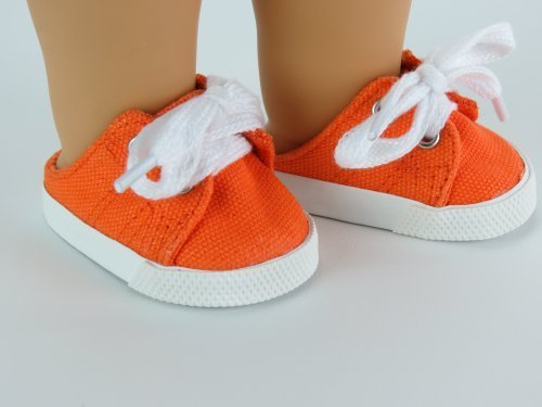"18 Inch Orange Canvas slip on sneaker -Fits 18"" american girl, Gotz, Our generation madame Alexander. by My Dolls Fashion World"