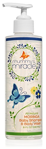Mummy's Miracle Moringa Baby Shampoo and Body Wash, 8-Ounce