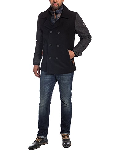 Timezone Herren Caban Jacke Long jacket 29-0123, Gr. XXX-Large, Schwarz (black 999)