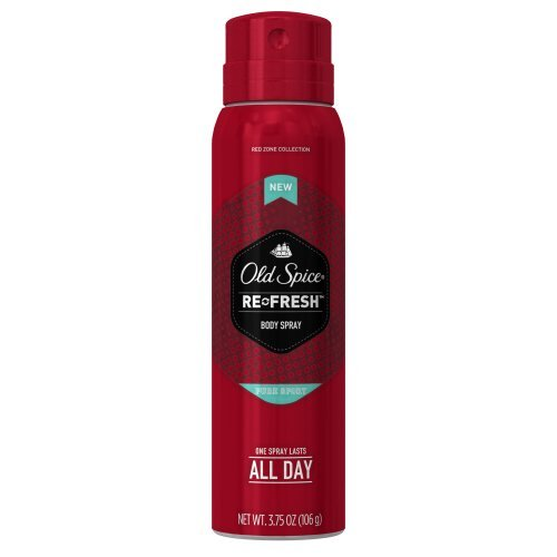 Old Spice Red Zone Pure Sport Men's Body Spray, 3.75 oz - Buy Packs and SAVE (Pack of 4) (Old Spice Pure Sport Body Spray compare prices)