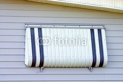 Wallmonkeys Peel and Stick Wall Decals - Hurricane Protection Aluminum Shutter - 24