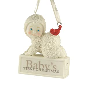 Department 56 Snowbabies Baby's First Christmas Ornament