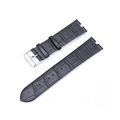 Japace® 22mm Orologio da Polso Leather Watch Strap Band in Pelle Alligatore Cinturino per Motorola Smartwatch Moto 360 - Nero