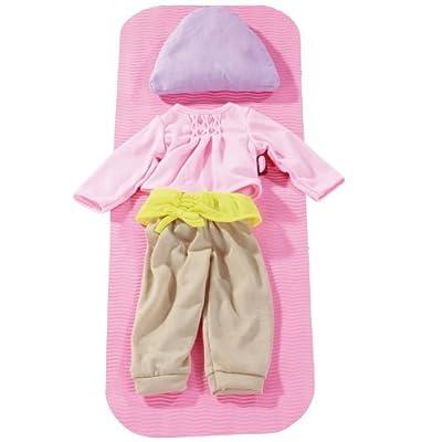 Götz 3402207 Yoga Bekleidung, Matte und Meditationskissen, Puppenkleidung passend für 46 - 50 cm Stehpuppen von Götz