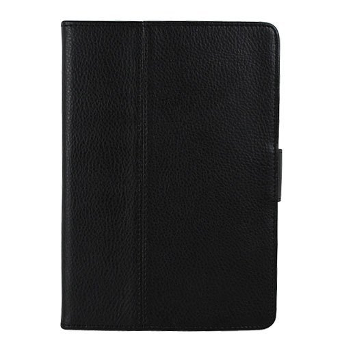 GTMax Durable PU Texture Leather Protector Cover Case with Stand - Black for Motorola Xoom Tablet