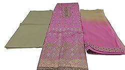 Alankar Textiles Panjabi Suit Piece Light Pink Color Cotton Dress Material