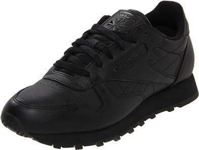 Reebok Women's Classic Leather Shoe,Black/Black/Black,5.5 M US