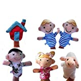6pcs lot the Nursery Rhyme Plush Finger Puppets Mary Had a Little Lamb Preschool Education Props for Kids
