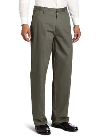 Dockers Men's Stain Defender Khaki D3 Classic Fit Flat Front Pant, Olive Drab, 40x34