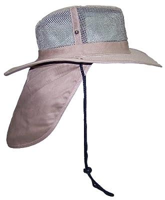 Tropic Hats Wide Brim Men Safari/Outback Summer Hat w/Neck Flap