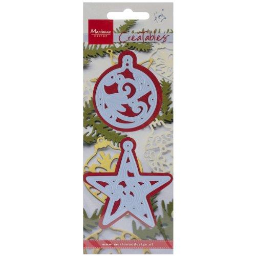 Marianne design plantillas para troquel de estrella y - Plantilla estrella navidad ...