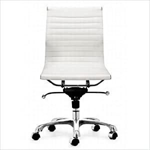mid back armless management office chair white kitchen dining