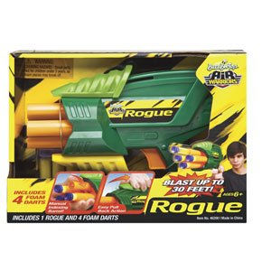 Amazon.com : Buzz Bee Toys Air Warriors Rogue with Foam Darts : Foam Battle Toys : Toys & Games